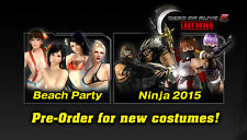 Dead or Alive 5 Last Round Xbox One Beach Party/Ninja 2015 DLC