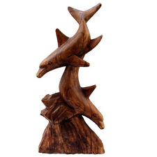 Handmade Twin Dolphin Coral Statue (Indonesia)