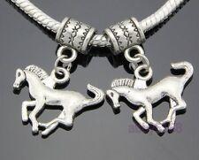 30 Tibetan Silver Horse Dangle Charms Fit Bracelet ZN51