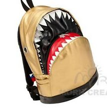 SHARK Backpack LARGE Morn Creations bag PU shiny GOLD