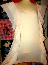 THE GARDEN COLLECTION  POUR H&M ROBE DRESS TUNIQUE NUDE VOLANTS TM OU 42/44