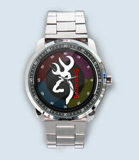 Get New Browning Logo Custom Stainless Steel Watch
