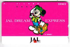 DISNEY  TELECARTE / PHONECARD .. JAPON 50Y TAMURA JAL MICKEY MOUSE VOYAGE