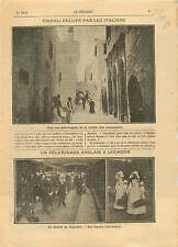 Italo-Turkish War Tripoli Libya Libye/Lourdes pilgrimage UK 1911 ILLUSTRATION