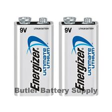 2 Energizer Ultimate Lithium 9V (9 Volt) Batteries (L522, 6LR61, 1604LC)