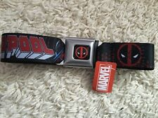 Deadpool Seat Belt Marvel Super Heroes Adjustable Avengers New NWT