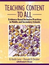 Teaching Content to All: Evidence-Based Inclusive Practices in Middle and Second
