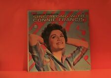 CONNIE FRANCIS - SING ALONG WITH  VG+ LP VINYL *BUY 1 LP GET 1 LP FREE* T