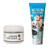 Elizavecca Carbonated Bubble Clay Mask 100ml + Hell-Pore Clean Up Mask 100ml SET