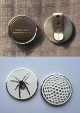 GOLF HAT CLIP SILVER PLUS 2 Golf  BALL MARKERS RED BACK SPIDER
