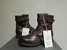 UGG ITALIAN COLLECTION ELISABETA ASH LEATHER/ SHEARLING BOOTS, US 5.5/ EUR 36.5