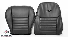 2002 2003 Mustang GT -Driver Side Complete Perforated Leather Seat Covers Black