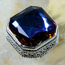 Handmade Rainbow Mystical Fire Topaz 925 Sterling Silver Ring Size: 6.75 #E90901