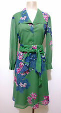 PANCALDI VINTAGE '70 Abito Vestito Donna Flower Woman Cotton Dress Sz.L - 46