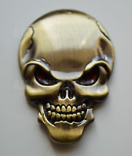Chrome 3D Metal Bronze Skull Badge for Saab 93 95 9-3 9-5 90 900 9000 Aero Turbo
