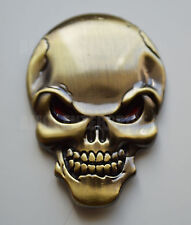 Chrome 3D Metal Bronze Skull Badge for Renault Clio Megane Sport Twingo Laguna