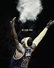 LeBron James Poster Cleveland Cavaliers Wall Art Home Decor 16x20 Inches