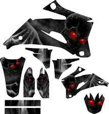 Yamaha YZF250 YZF450 Skull Full Graphics Kit  08-09 YZF 250 450 decals sticker