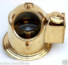 Binnacle helmet gimballed compass with classy shiny brass finish home decorative