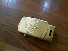 Old Vintage Childs Kid Brass Tiger Cub Scout Belt Buckle Accessory BSA Boy Scout