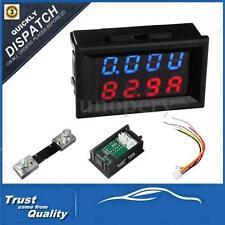 100V 100A DC Car Auto Digital Voltmeter Ammeter LED Amp Volt Meter 12V w/shunt