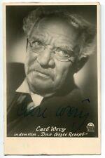 """CARL WERY - orig. Autogramm - """"Das letzte Rezept"""", 1952"""
