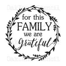 Inspirational STENCIL*for this Family Grateful*12x12 for Sign Wood Fabric Canvas