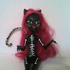 Skeleton Kitty * OOAK Custom Monster High Doll Repaint
