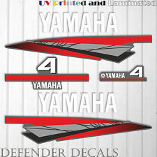 Yamaha 4 HP Two 2 Stroke outboard engine decal sticker kit reproduction 4HP