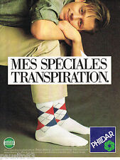 PUBLICITE ADVERTISING 065  1986  PHILDAR chaussettes thermo-ambiant