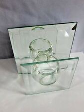 Nos 1994 Chadwick Candle Lights Beveled Mirror Reflects Holder Retro Glass Block