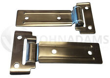 2 x Side Locker Door Hinge Stainless Steel Catering Van Truck Motorhome Bus Boat