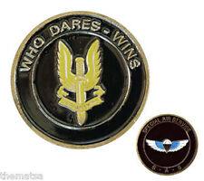 SAS WHO DARES WINS SPECIAL AIR SERVICE BRITISH ARMY MILITARY CHALLENGE COIN