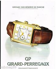 Publicité Advertising 2002 La Montre GP Girard-Perregaux