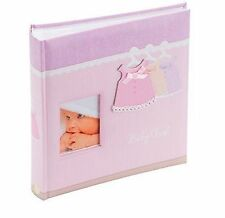 Pink Dress Baby Girl Outfit Photo Album Slip In 6 x 4 Holds 200 Photos - KB102PK