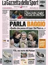 Gazzetta dello sport 29 marzo 2008 Roberto Baggio - Prima in piccolo formato