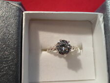 Simulated Diamond Ring in Platinum Overlay - Size 7 - 3.64 Carats