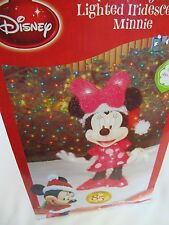 "DISNEY LIGHTED IRIDESCENT MINNIE FIGURE CHRISTMAS DISPLAY 24"" SPECIAL 85TH ANNIV"