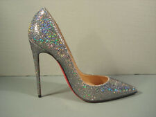LOUBOUTIN 39/8.5 Glitter Leather SO KATE Disco Ball Point Toe Pumps Heels NEW