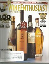 Wine Enthusiast Magazine December 31 2012 Best of the Year Issue/New Year's Eve