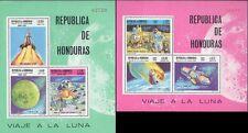 HONDURAS 1969 SPACE = APOLLO MOON program 2 S/S MNH CV.$34.00