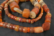 Alte Achatperlen Karneol Antique Agate Carnelian Big Stone trade beads Bankam