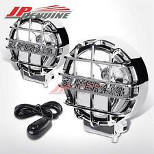 CLEAR LENS/CHROME GUARD 6 INCH ROUND SUPER 4x4 OFFROAD BUMPER/GRILLE FOG LIGHTS