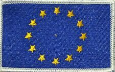 European Union (EU) Flag Iron-On Tactical Patch White Border #50