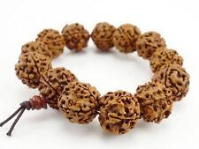 Huge Tibetan 12 18mm Rudraksha Bodhi Seed Buddhist Prayer Beads Mala Bracelet