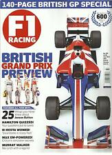 F1 RACING,  JULY, 2013 NO.209 ( THE WORLD'S BEST -SELLING  GRAND PRIX MAGAZINE )