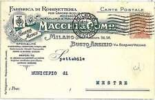 CARTOLINA d'Epoca - VARESE : Busto Arsizio PUBBLICITARIA  1923