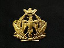 Fregio da Bustina Berretto Aeronautica Militare Italiana AM in Metallo Dorato