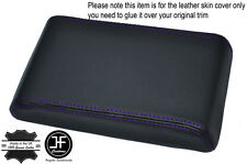 PURPLE STITCHING ARMREST LID LEATHER COVER FITS HOLDEN COMMODORE VL