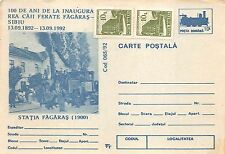 B19240 Postal Stationery Cover Entiers Postaux Romania Fagaras Railway Station